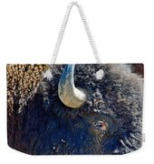 Multi-color-eyed Bison Near Wildlife Loop Road In Custer State Park-south Dakota Weekender Tote Bag