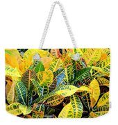 Multi-colored Croton Weekender Tote Bag