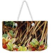 Multicolored Codiaeum Weekender Tote Bag