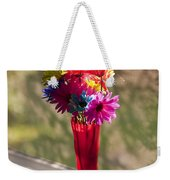 Multicolored Daisies On Window Sill Weekender Tote Bag