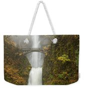 Multnomah Autumn Mist Weekender Tote Bag by Mike  Dawson