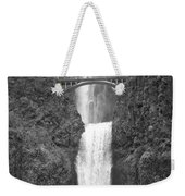 Multnomah Double Falls - Bw Weekender Tote Bag