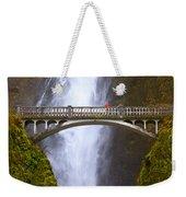 Multnomah Falls Bridge In Oregon Weekender Tote Bag