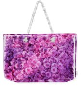 Mums In Purple - Featured In 'comfortable Art' And 'nature Photography' Groups Weekender Tote Bag