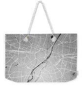 Munich Street Map - Munich Germany Road Map Art On Colored Backg Weekender Tote Bag
