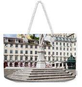Municipal Square In Lisbon Weekender Tote Bag
