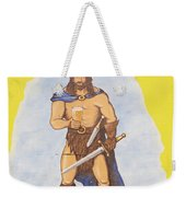 Mural Of Legendary Irish Giant Fionn Weekender Tote Bag