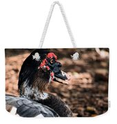 Muscovy Feathers Weekender Tote Bag