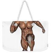 Muscular Man Running Weekender Tote Bag