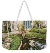 Museum Koi - Courtyard Of The Pacific Asia Museum In Pasadena. Weekender Tote Bag
