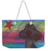 Mushroom And Star Weekender Tote Bag