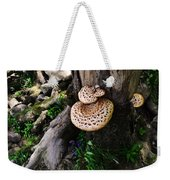 Mushrooms And Flowers Weekender Tote Bag