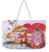 Mushrooms And Hedgehogs Weekender Tote Bag