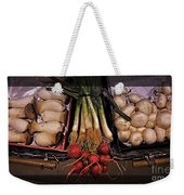 Mushrooms And Radishes Framed Weekender Tote Bag