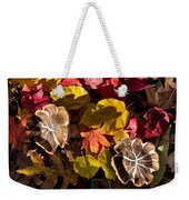 Mushrooms In Fall Leaves Weekender Tote Bag