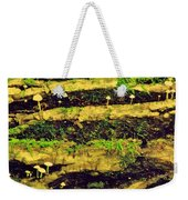 Mushrooms Lichen And Moss On Log Weekender Tote Bag