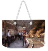 Music - Accordion - The Guy And The Squeeze Box Weekender Tote Bag by Mike Savad