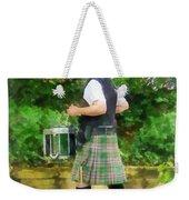 Music - Drummer In Pipe Band Weekender Tote Bag
