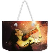 Music Explodes In The Night Weekender Tote Bag by Linda Lees