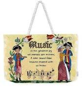 Music Fraktur Weekender Tote Bag