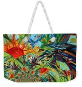 Music In Bird Of Tree Assymetrical Weekender Tote Bag