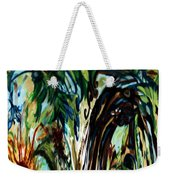 Music In Bird Of Tree Drip Painting Weekender Tote Bag