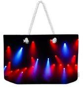 Music In Red And Blue - The Wonderful Sound Of Nightlife Weekender Tote Bag