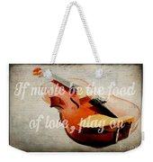 Music Lover Card Weekender Tote Bag