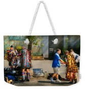 Music - Mummers Preperation Weekender Tote Bag by Mike Savad