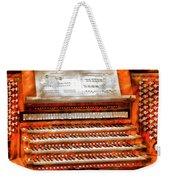 Music - Organist - The Pipe Organ Weekender Tote Bag by Mike Savad