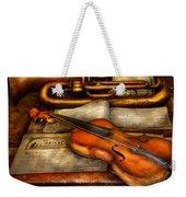 Music - Violin - Played It's Last Song  Weekender Tote Bag by Mike Savad