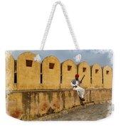 Musician - Amber Palace - India Rajasthan Jaipur Weekender Tote Bag