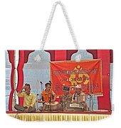 Musicians At Hindu Festival Of Ram Nawami In Kathmandu-nepal Weekender Tote Bag