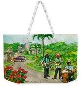 Musicians On Island Of Grenada Weekender Tote Bag