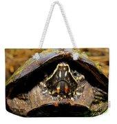 Musk Turtle Macro Weekender Tote Bag