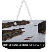 Mussel Collectors At Low Tide - Shellfish - Low Tide Weekender Tote Bag