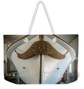 Mustache Boat Weekender Tote Bag