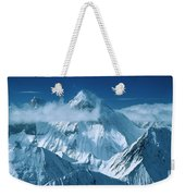 Mustagh Tower At Center And Masherbrum Weekender Tote Bag
