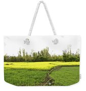 Mustard Fields In Kashmir On The Way To The Town Of Sonamarg Weekender Tote Bag
