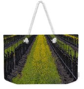 Mustard Grass In Vineyards Weekender Tote Bag