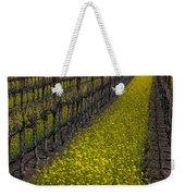 Mustrad Grass In The Vineyards Weekender Tote Bag by Garry Gay