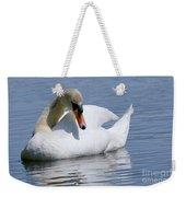 Mute Swan 1 Weekender Tote Bag by Sharon Talson