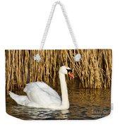 Mute Swan By Reed Beds Weekender Tote Bag