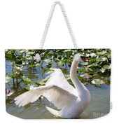 Mute Swan Wings Weekender Tote Bag