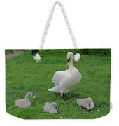 Mute Swan With Cygnets Weekender Tote Bag