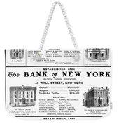 Mutual Funds, 1901 Weekender Tote Bag