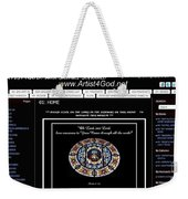 My Artist4god Website Weekender Tote Bag