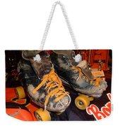 My Battle Scarred Roller Derby Skates  Weekender Tote Bag