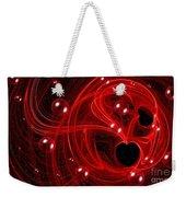 My Cosmic Valentine Weekender Tote Bag by Peggy Hughes
