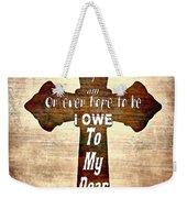 My Dear Savior Weekender Tote Bag by Michelle Greene Wheeler